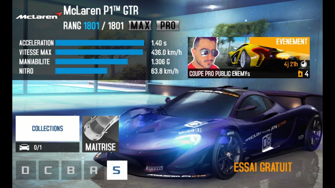 asphalt 8 mclaren p1gtr public enemy pro cup youtube. Black Bedroom Furniture Sets. Home Design Ideas