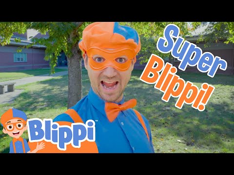 Blippi's Halloween Costume | Super Blippi! | Halloween Videos For Kids