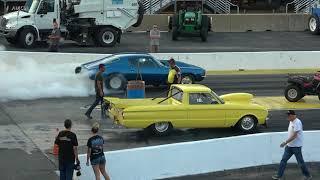 Drag Racing Super Streets Camaro vs Pick up truck