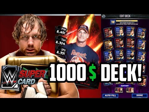 WWE SUPERCARD SELL YOUR ACCOUNT FOR 1000$!!!???