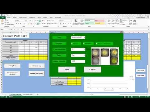 ABE 205 Excel VBA Project (Algae Growth)