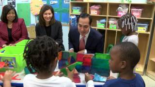 HUD Secretary Castro visits Cleveland early learning center, praises PRE4CLE efforts