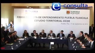 Signan convenio gobiernos de Puebla y Tlaxcala desarrollo sustentable OCDE