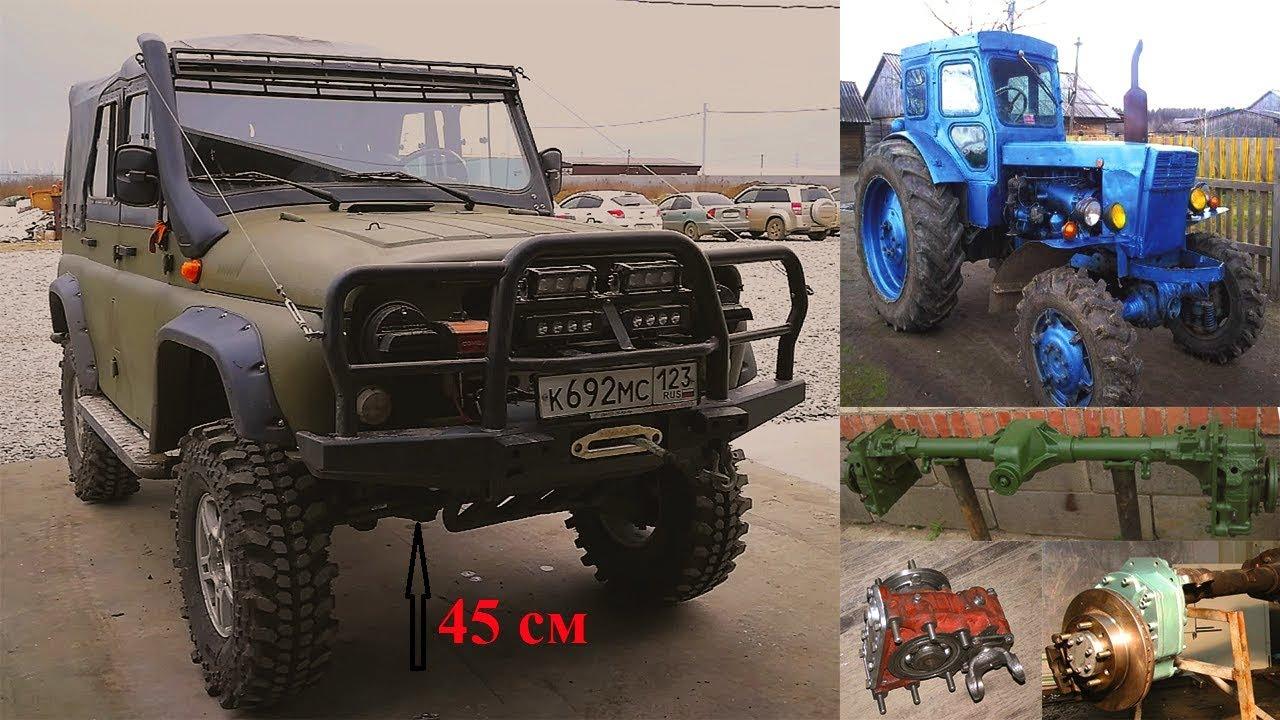 Обзор комфортный УАЗ с редукторами трактора т-40, кожаный салон, усиленные шкворня и мн. другое