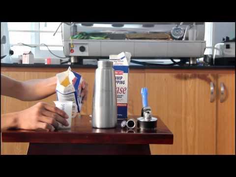 Cách làm kem tươi bằng bình xịt kem isi