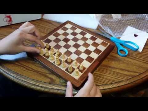 "Unboxing a 10"" Wooden Magnetic Chess Set from Chessbazaar.com"