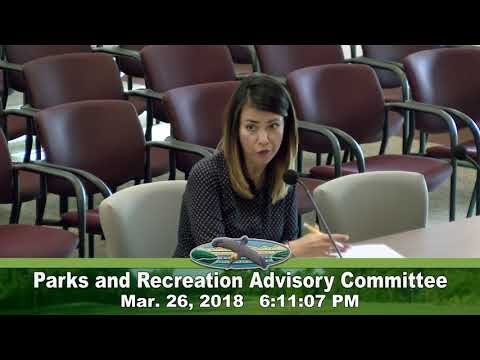 March 26, 2018 Parks and Recreations Meeting