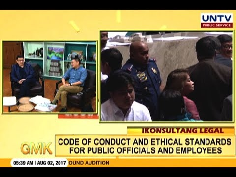 In depth discussion on conduct and ethical standards for public officials and employees