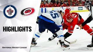 NHL Highlights | Hurricanes @ Jets 1/21/20