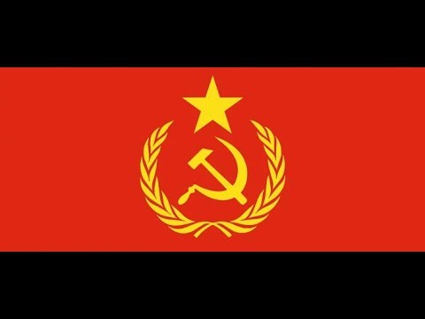Doing step aerobics to the USSR National Anthem as a school project