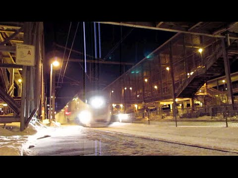 Thumbnail: Amtrak & MBTA In Post Blizzard Action at Canton Junction!