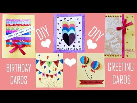 DIY Easy Greeting Card Ideas | Beautiful Handmade Birthday Cards |Saheli's Dreamcatcher