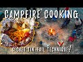 Campfire cooking with tin foil van life cooking mp3