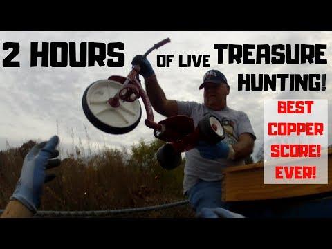 2 hours of Live Dumpster Diving! Best Copper Scrap metal Score ever!