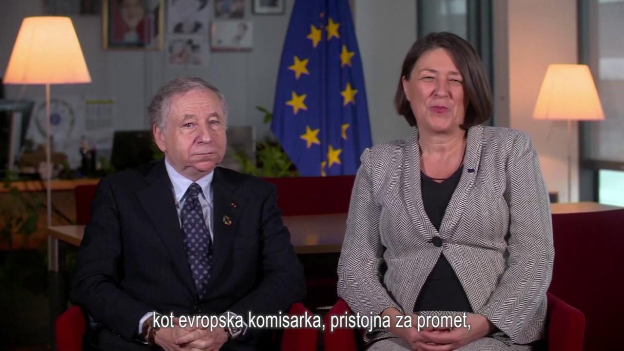 Jean Todt in Violeta Bulc - nagovor ob Svetovnem dnevu spomina na žrtve prometnih nesreč 2017 (SLO)