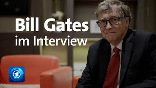 Bill Gates im Interview mit Sandra Maischberger