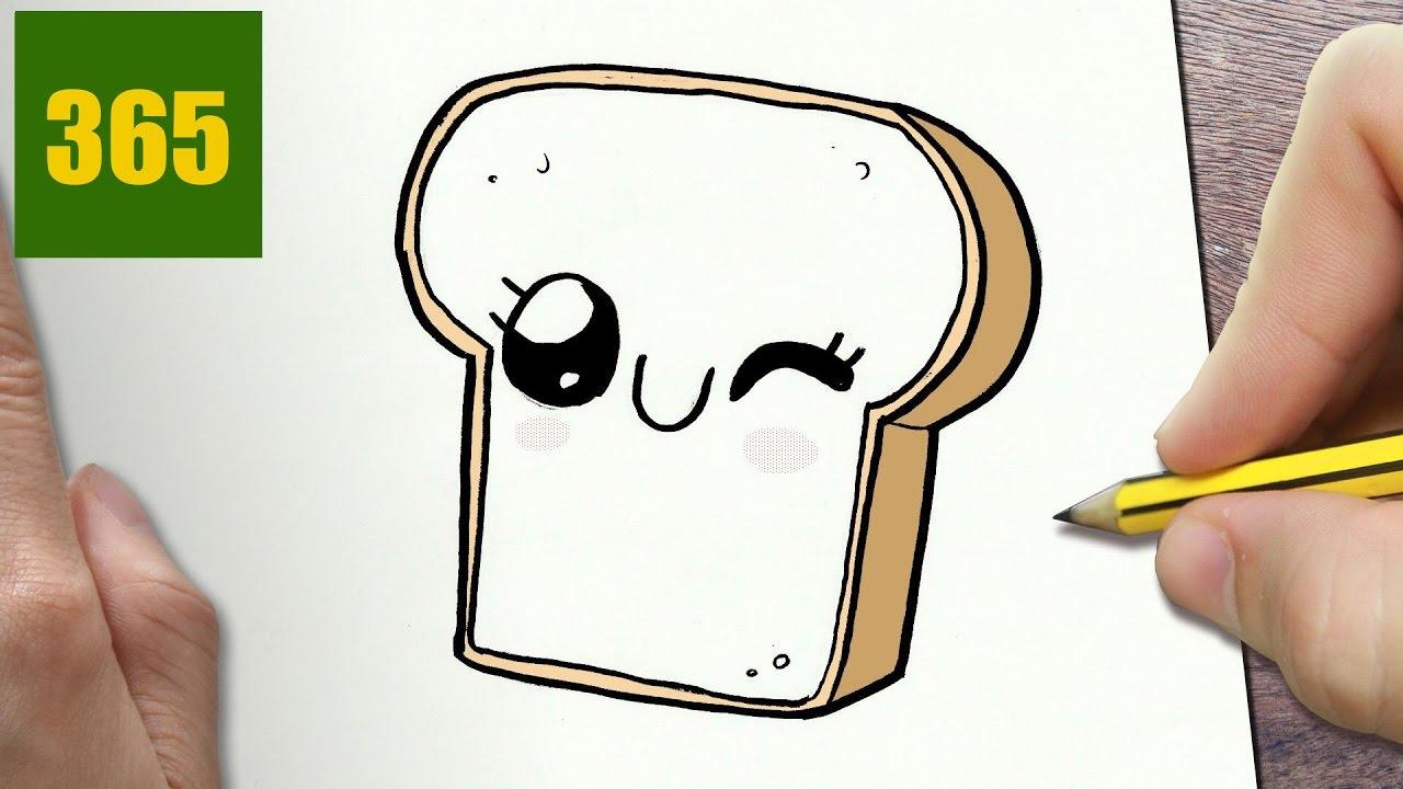 Come disegnare fetta di pane kawaii passo dopo passo for Foto di disegni kawaii