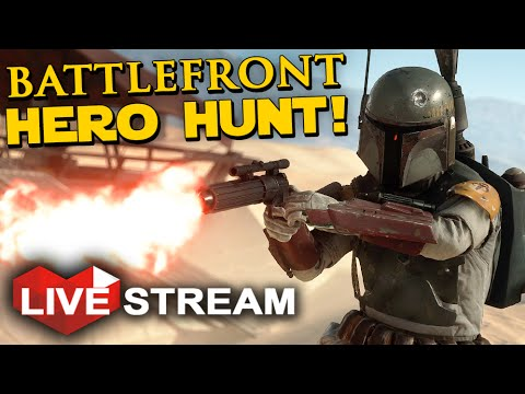 Star Wars Battlefront - JEDI vs SITH HERO HUNT Gameplay Live Stream