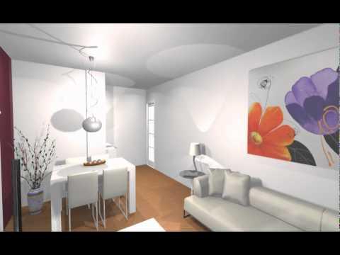 estudio de saln minimalista con un solo toque de color arredomov