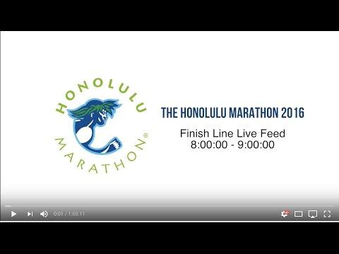 Honolulu Marathon 2016 Finish Line Video Feed 8:00:00 - 9:00:00