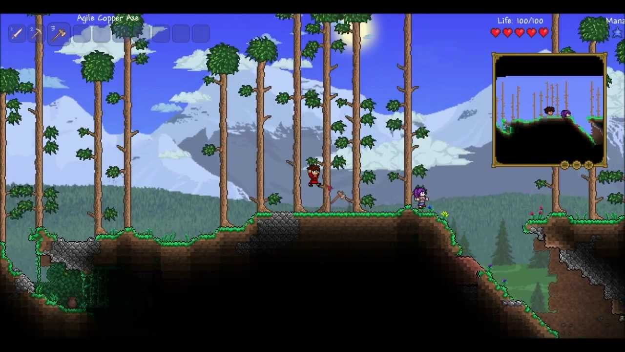 Terraria 12 Episode 1 How Does Wood Blocks