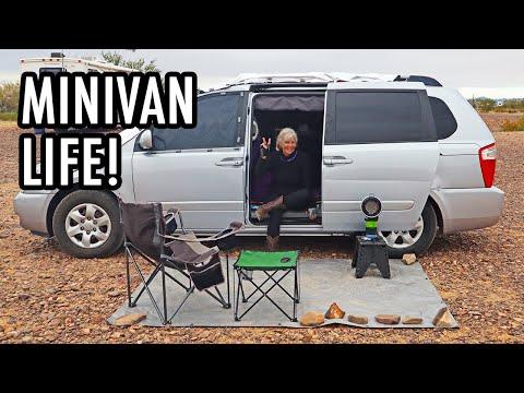 Retired Woman Lives Full-Time In A Kia Sedona Minivan (No-Build Vanlife Tour)