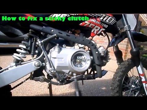 how to fix a sticky clutch on a pit bike