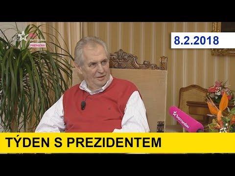 TÝDEN S PREZIDENTEM u J. Soukupa. 8.2.2018. Miloš Zeman týden po volbách
