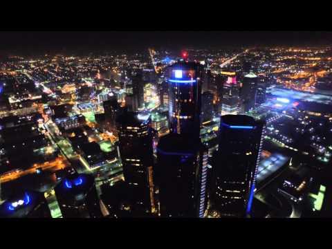 Downtown Detroit    GM RenCen World Headquarters  1080p
