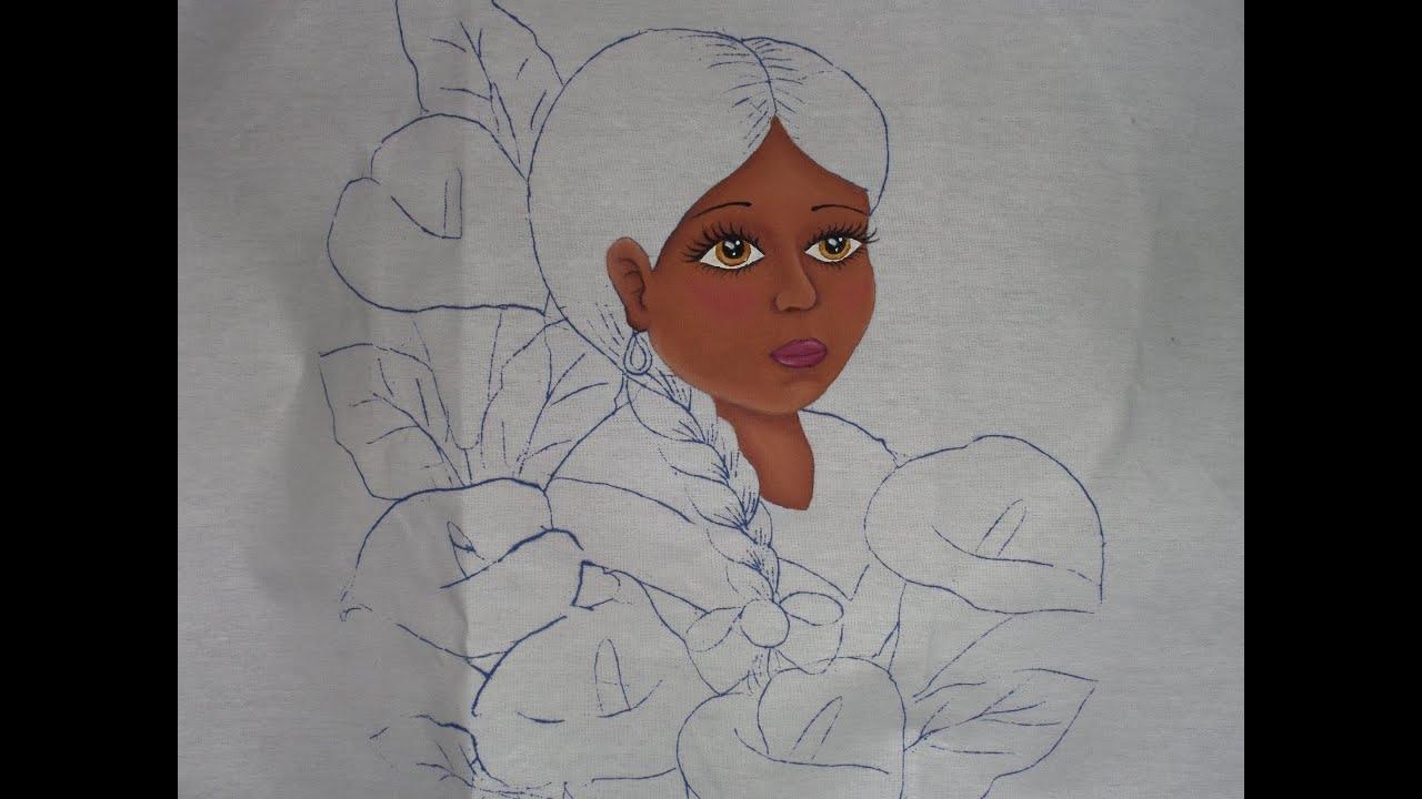 Pintura en tela ni a alcatraces 1 youtube - Pintura en tela dibujos ...