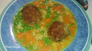 Суп с мясными фрикадельками рецепт с Термомикс ТМ5