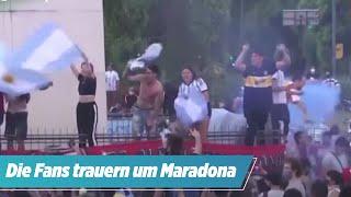 Nach Maradonas Tod: So trauern die Fans in Argentinien