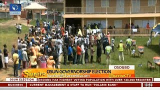 ChannelsTV Correspondents Give Update On Osun Election As Voters Throng Polling Units  Sunrise 