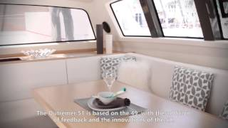 Catamaran Outremer 51 in Cannes Boat Show 2013