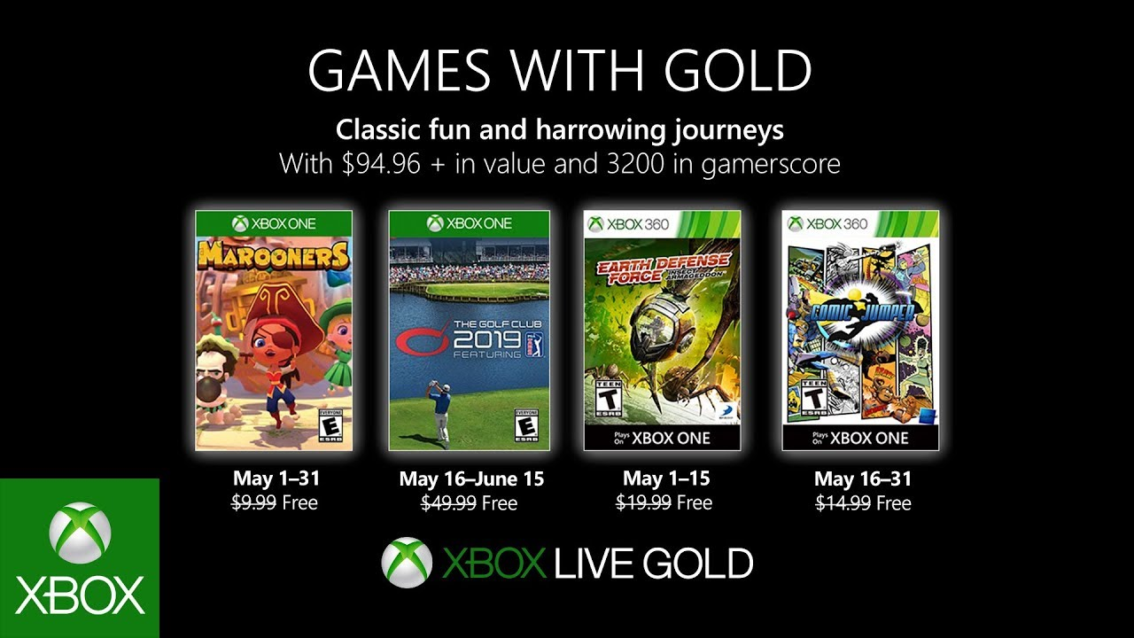Xbox May 2019 Games With Gold Youtube