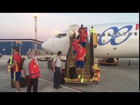 La Roja ya está en Skopje