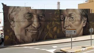 Presentación del mural homenaje a los hijos ilustres Antonio González y José Antonio de Viera