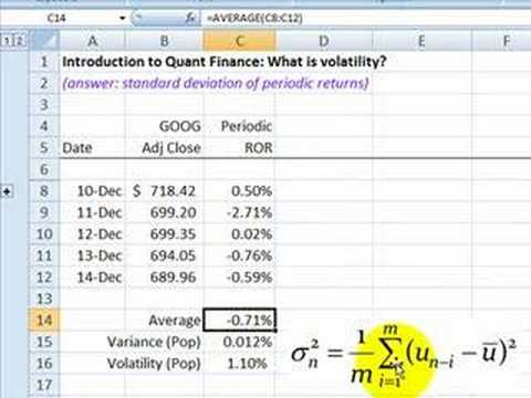 FRM: Intro To Quant Finance: Volatility