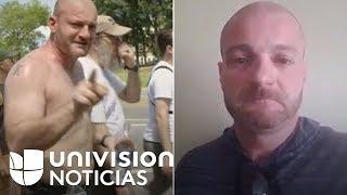 Este supremacista pasó de apoyar la violencia a grabar un video sollozando para pedir que no lo arre