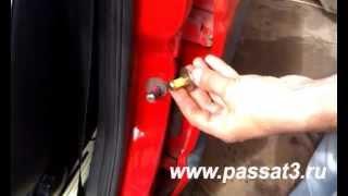 Замок двери автомобиля, видео замена упора двери Фольксваген Пассат В3 и В4(, 2014-06-02T10:38:33.000Z)