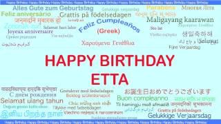 Etta   Languages Idiomas - Happy Birthday