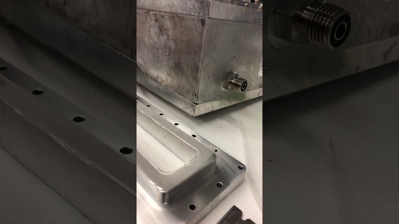 Devcon 2 Ton epoxy Mylar window test (failure) - YouTube