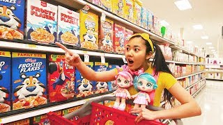 New KindiKids Go Food Shopping at Toy Store with Ellie Sparkles In Real Life