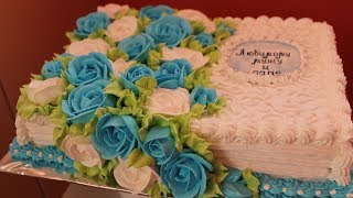 Торт книга из крема. Роза из крема 2 способа