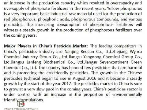 Chinese Industrial Waste Discharge Regulations, China Pesticides Industry Size - Ken Research