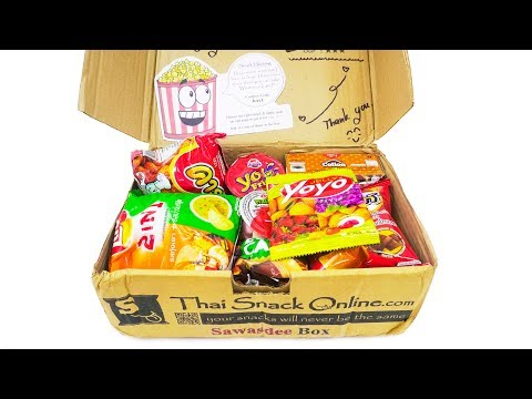 Awesome Thailand Snacks And Candies unboxing | thaisnackonline.com