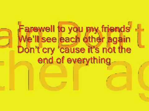 farewell to you my friend chipmunks version