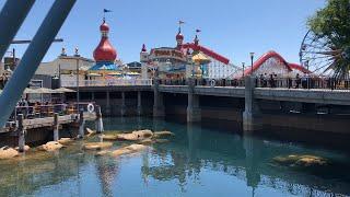 Live Pixar Pier Walk Thru at Disney California Adventure Media Event