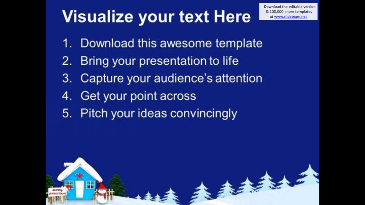 Snowman Wishing Merry Christmas Powerpoint Templates Ppt Backgrounds