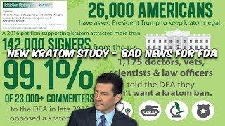New Kratom Study is Bad News for the FDA